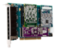 Eight Port Hybrid PCI-Express x1 card with 4 BRI interfaces & Echo Cancellation-Europe